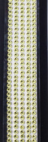 "Sleek Strips 12"" Rhinestones- Yellow"