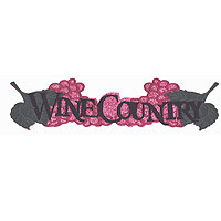 Wine Country GLITTER 4 Color Title Strip