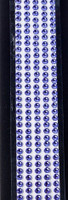 "Sleek Strips 12"" Rhinestones- Purple"