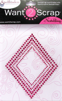 Nestabling Classic Diamonds Hot Pink Rhinestones
