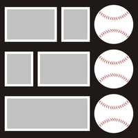 Baseballs - 12x12 Overlay