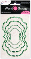 Nestabling Labels Fourteen Green Rhinestones