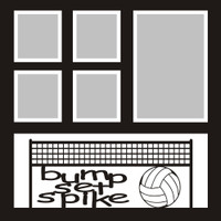 bump set spike - 12x12 Volleyball Overlay