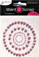 Nestabling Petite Scalloped Circle Sm Lavender Pearl