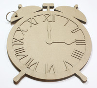 Old Time Alarm Clock - Chipboard Album