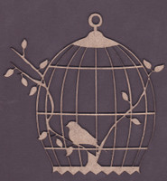 Betty's Birdcage - Chipboard Embellishment