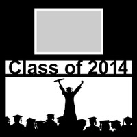Class of 2014 with Graduate Silhouette - 12x12 Overlay