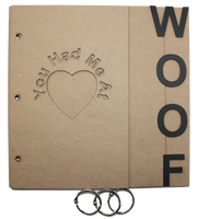 You had me at Woof Chipboard Album 8x8