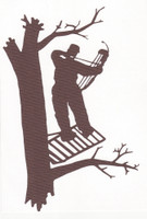 Archer in Tree Stand - Die Cut