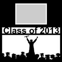 Class of 2013 with Graduate Silhouette - 12x12 Overlay
