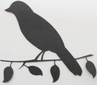 Bird on Branch - Silhouette
