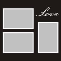 Love - 12x12 Overlay