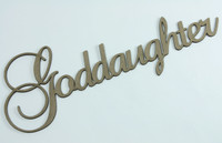 Goddaughter - Fancy Chipboard Word