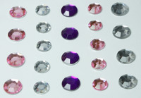 Multicolored Bling - Clear, Pink, and Purple Rhinestones