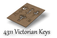 Victorian Keys and Lock - Chipboard