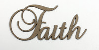 Faith - Fancy Chipboard Word