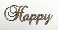 Happy - Fancy Chipboard Words