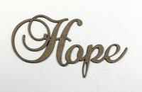 Hope - Fancy Chipboard Word