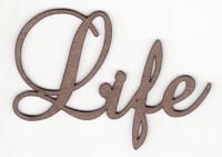 Life - Fancy Chipboard Word