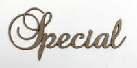 Special - Fancy Chipboard Word