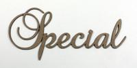 Special - Fancy Chipboard Word
