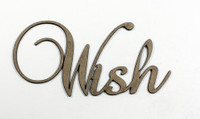 Wish - Fancy Chipboard Word