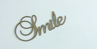 SMILE - Fancy Chipboard Word