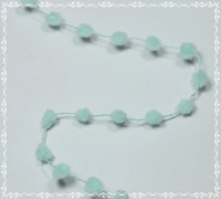 Pom Pom Ribbon Small - Light Aqua