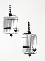 Charlies Birdcage Silhouette - Card Sized (2-Pack)