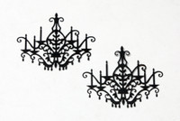 Chandelier Silhouette - Card Sized (2-Pack)
