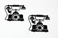 Vintage Phone Silhouette - Card Sized (2 Pack)