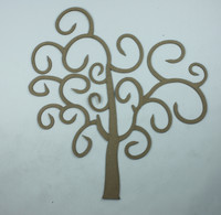 Fancy Swirls Tree Large - Chipboard Embellishment