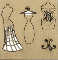 Dress Form Set - Chipboard Embellishment