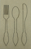 Utensil Set - Chipboard Embellishments