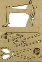 Sewing Notions - Chipboard Embellishment