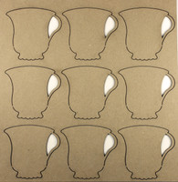 Teacups - Chipboard Embellishments