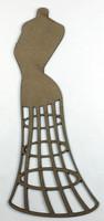Dress Form Vintage - Chipboard Embellishment