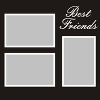 Best Friends - 12x12 Overlay