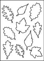 Falling Leaves Stencil