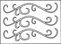 Finesse Swirls Stencil