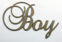 Boy - Fancy Chipboard Word