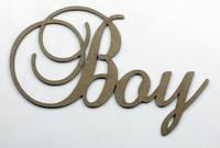 Boy - Fancy Chipboard Word