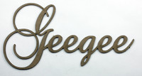 Geegee - Fancy Chipboard Words