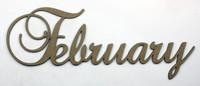February - Fancy Chipboard Word