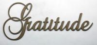 Gratitude - Fancy Chipboard Word