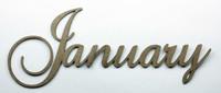 January - Fancy Chipboard Word