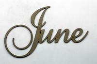 June - Fancy Chipboard Word