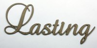 Lasting - Fancy Chipboard Word