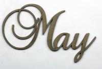 May - Fancy Chipboard Word