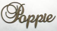 POPPIE - Fancy Chipboard Word